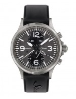 20mm 黑色矽膠錶帶 Sinn U50系列/756/856 適用款(不含手錶與錶釦)